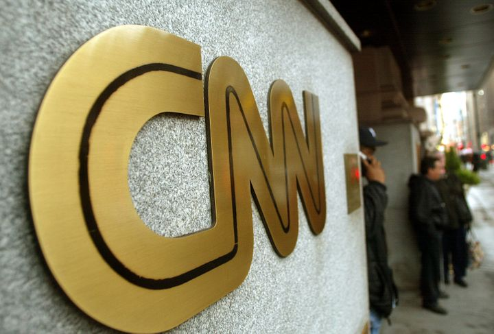 NEW YORK - NOVEMBER 12:  The CNN sign is seen outside its headquarters November 12, 2002 in New York City. The proposed merge