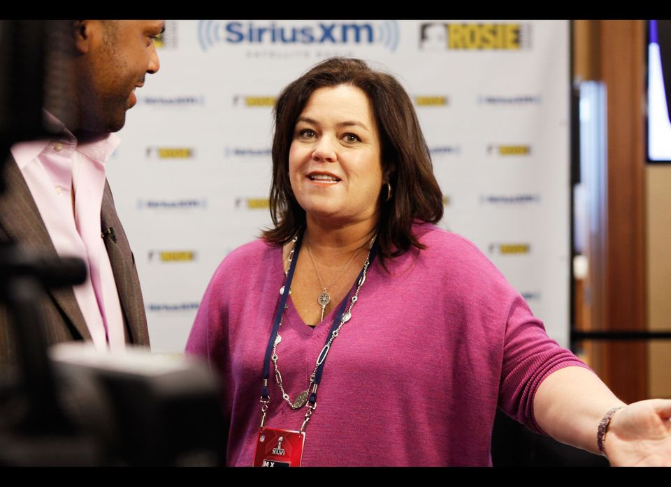 """INDIANAPOLIS, IN - FEBRUARY 03:  Rosie O'Donnell hosts a special edition of her SiriusXM """"Rosie Radio"""" show live from Radio R"""