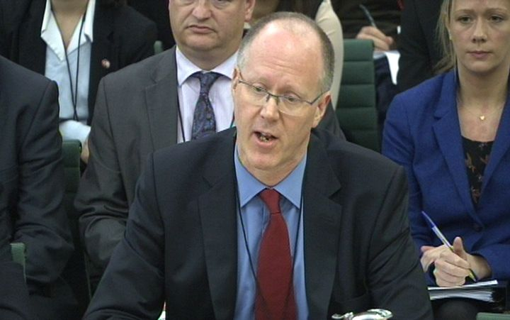 BBC Director-General George Entwistle gives evidence to the Culture, Media and Sport select committee in the House of Commons