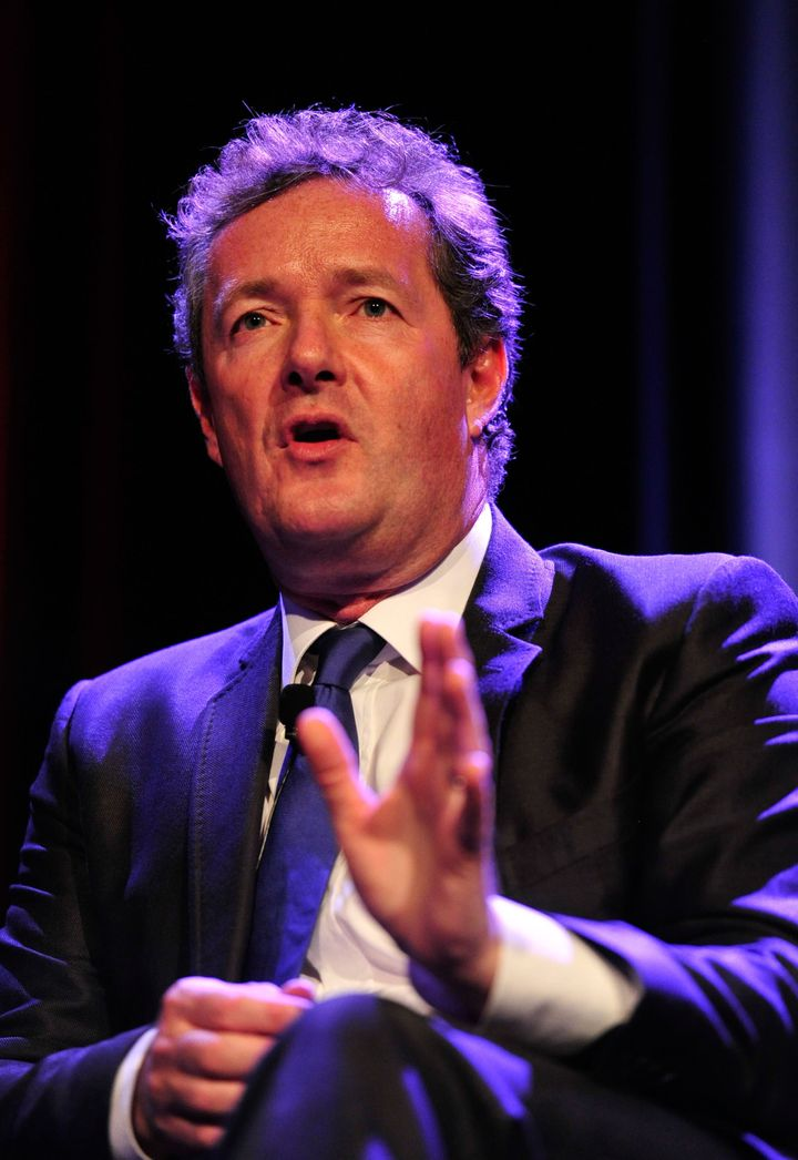 BEVERLY HILLS, CA - MAY 04:  Televison Personality Piers Morgan on stage at BritWeek 2012's 'An Evening With Piers Morgan, In