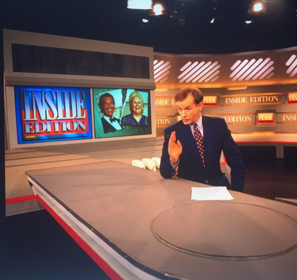 Anchor Bill O'Reilly on set of Inside Edition, TV tabloid news show produced by King World.  (Photo by Ted Thai//Time Life Pi