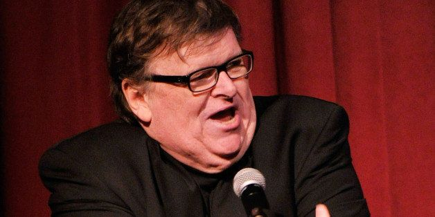 NEW YORK, NY - JANUARY 07:  Filmmaker Michael Moore speaks onstage at the 2012 New York Film Critics Circle Awards at Crimson