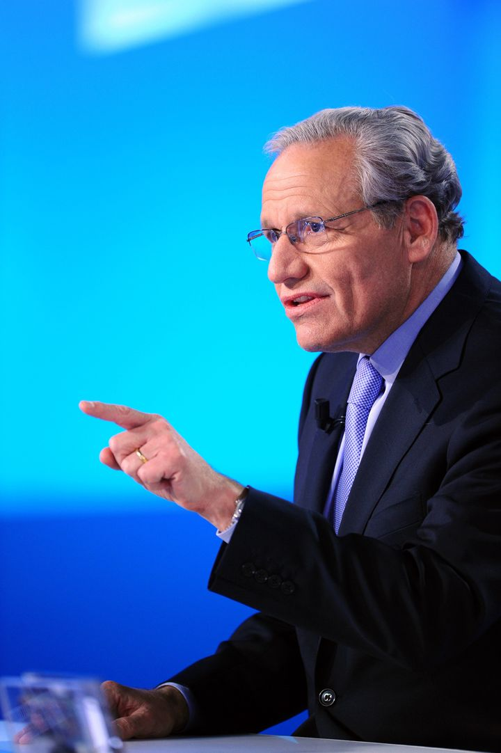 US journalist Bob Woodward takes part in the TV show 'Le Grand Journal' on Canal+ channel, on April 7, 2011 in Paris. Woodwar