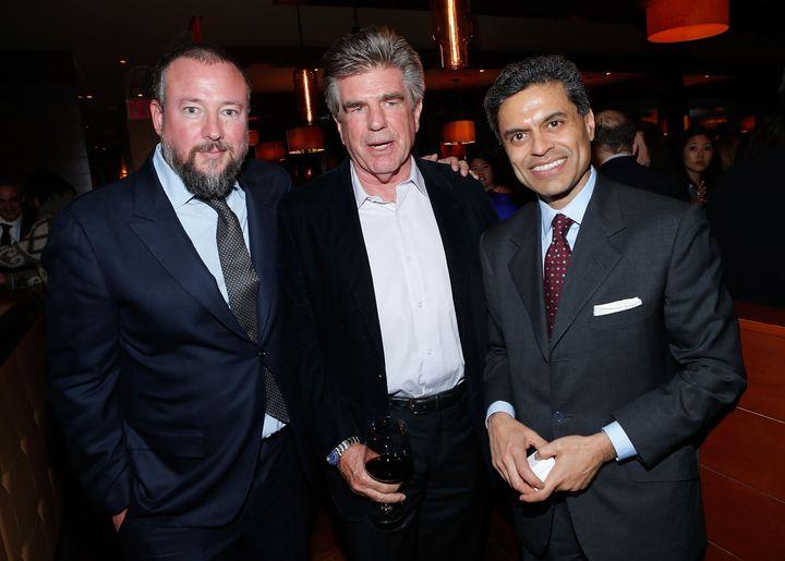 NEW YORK, NY - APRIL 02:  (L-R) Host and executive producer Shane Smith, media executive Tom Freston and journalist Fareed Za