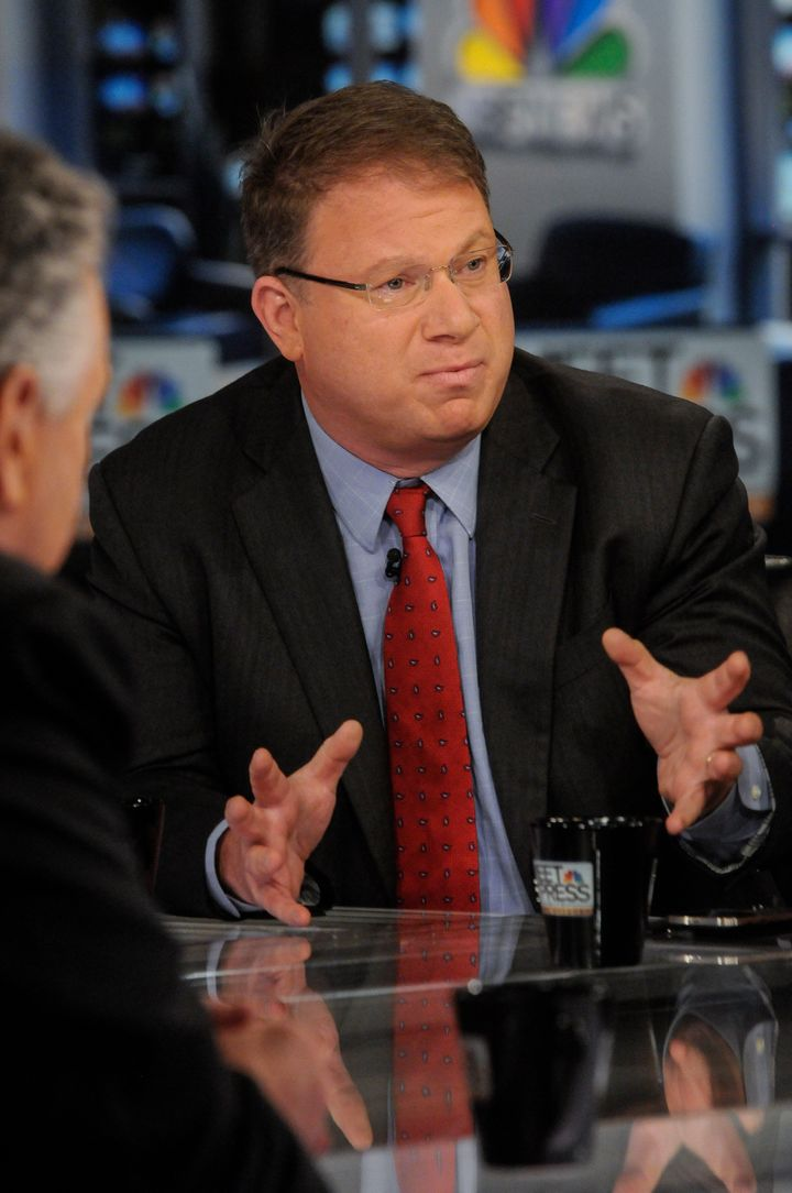 MEET THE PRESS -- Pictured: (l-r) ?  Jeffrey Goldberg, National Correspondent, The Atlantic, appears on 'Meet the Press' in W