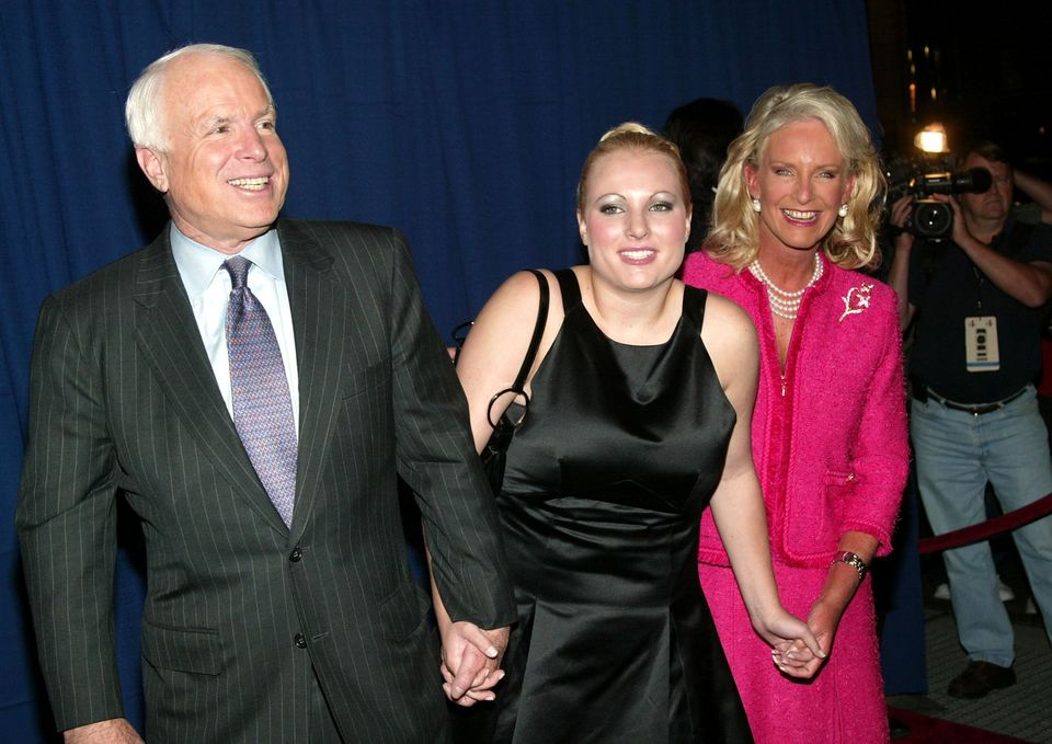 NEW YORK - SEPTEMBER 1:  Senator John McCain arrives with his wife Cindy and daughter Megan at 'Live From New York Its Wednes