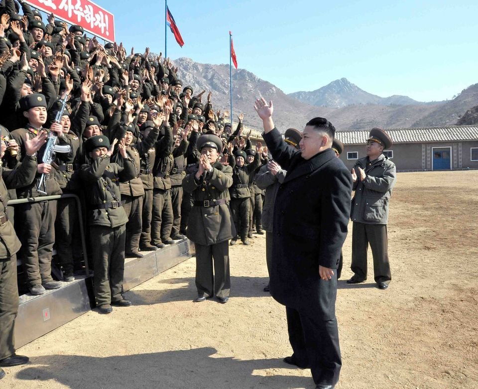 In this March 11, 2013 photo released by the Korean Central News Agency (KCNA) and distributed March 12, 2013 by the Korea Ne