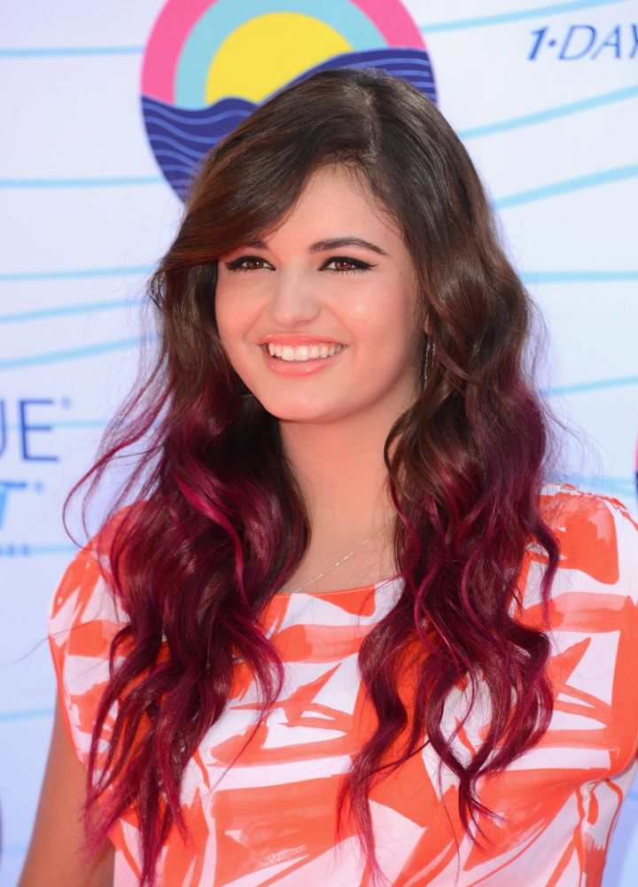 UNIVERSAL CITY, CA - JULY 22:  Singer Rebecca Black arrives at the 2012 Teen Choice Awards at Gibson Amphitheatre on July 22,