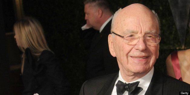 WEST HOLLYWOOD, CA - FEBRUARY 27: News Corp Chairman and CEO Rupert Murdoch arrives at the Vanity Fair Oscar Party 2011, Febr