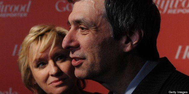 Tina Brown and Howard Kurtz arrive at a red carpet event hosted by Google and the Hollywood Reporter on the eve of the annual