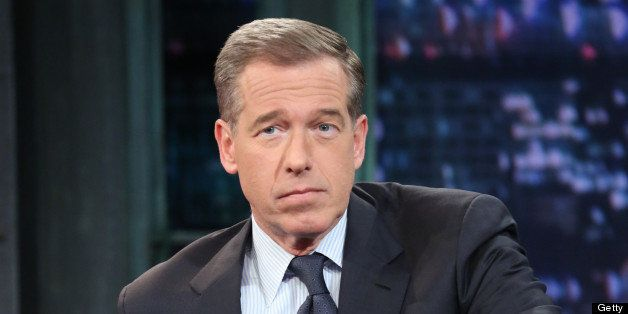 LATE NIGHT WITH JIMMY FALLON -- Episode 770 -- Pictured: News anchor Brian Williams during an interview on January 29, 2013 -