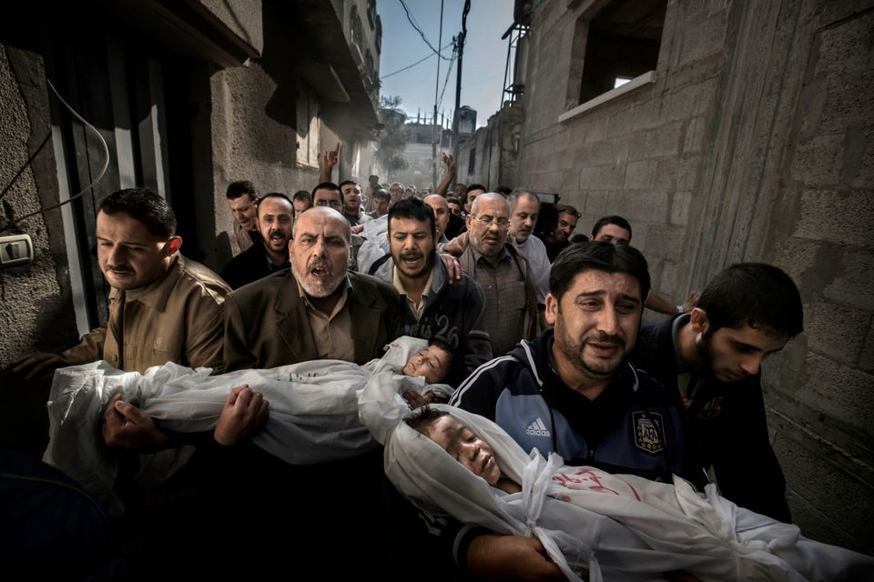 In this photo provided on Friday Feb. 15, 2013 by World Press Photo, the 2013 World Press Photo of the year by Paul Hansen, S