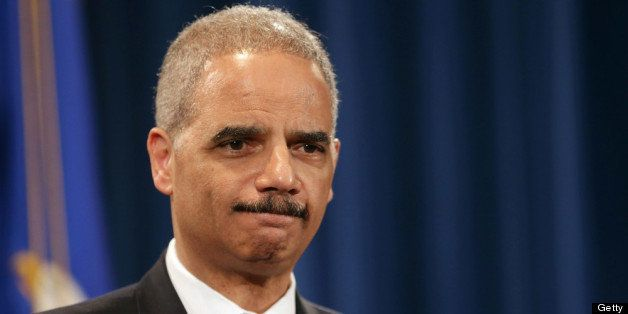 WASHINGTON, DC - MAY 14:  U.S. Attorney General Eric Holder holds a Medicare fraud news conference at which he said he recuse