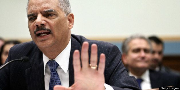 WASHINGTON, DC - MAY 15:  U.S. Attorney General Eric Holder testifies during a hearing before the House Judiciary Committee o