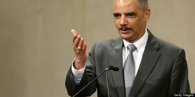 WASHINGTON, DC - MAY 29:  U.S. Attorney General Eric Holder delivers remarks during the Justice Department Inspector General'