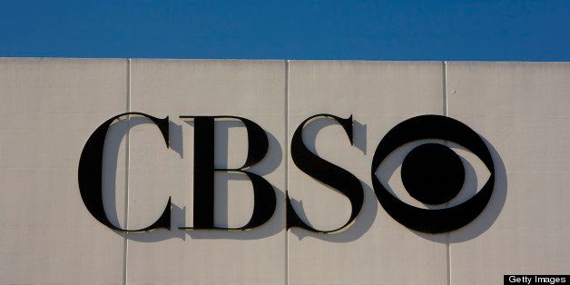 LOS ANGELES, CA - APRIL 26:  A large sign and logo greets visitors to CBS's Television Studios on April 26, 2012 in Los Angel