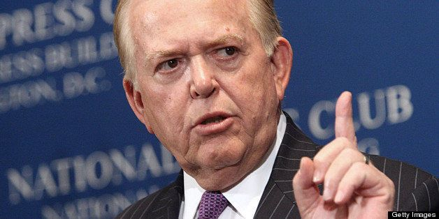 (FILES): This June 26, 2007 file photo shows Lou Dobbs, anchor and managing editor of CNN's Lou Dobbs Tonight program, at the