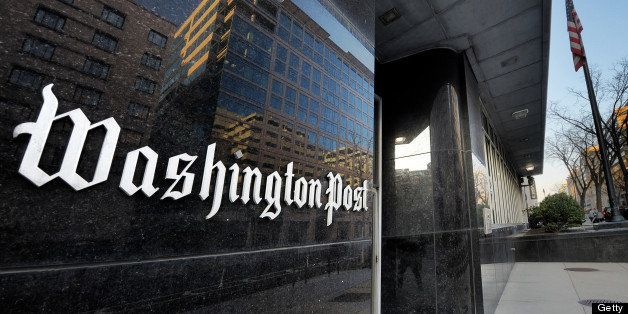 WASHINGTON, DC - FEBRUARY 20: Exterior view of the Washington Post building on L street on February, 20, 2013 in Washington,