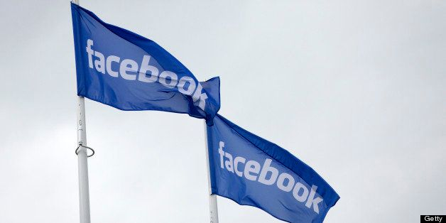Facebook logos fly from flagpoles outside Facebook Inc.'s new data storage center near the Arctic Circle in Lulea, Sweden, on