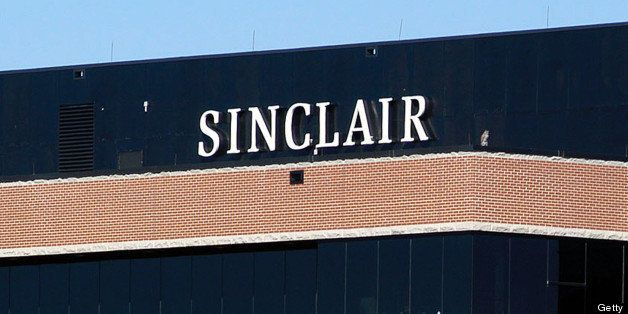 HUNT VALLEY, MD - OCTOBER 12:  A sign on the Sinclair Broadcast building is seen in a buisness district October 12, 2004 in H