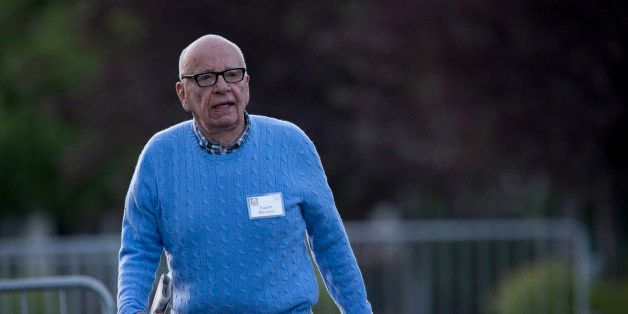 Rupert Murdoch, chairman and chief executive officer of News Corp., walks to a morning session at the Allen & Co. Media and T