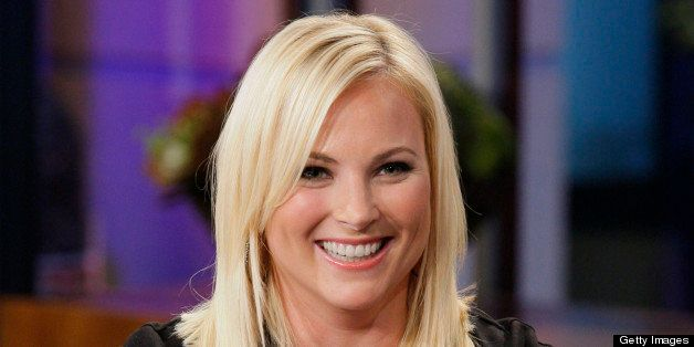 THE TONIGHT SHOW WITH JAY LENO -- Episode 4315 -- Pictured: Political columnist Meghan McCain during an interview on Septembe