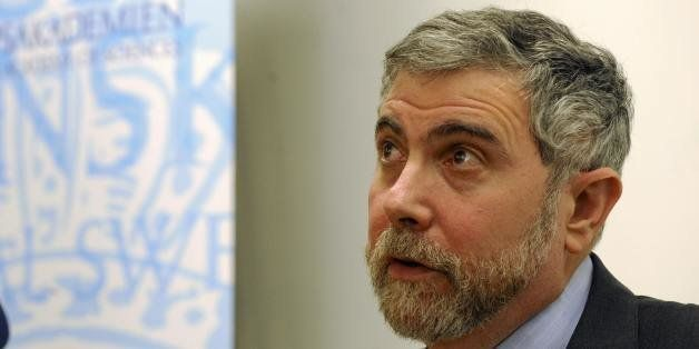 Nobel prize winner for Economy Sciences Paul Krugman of the US listens to questions during a press conference after his lectu
