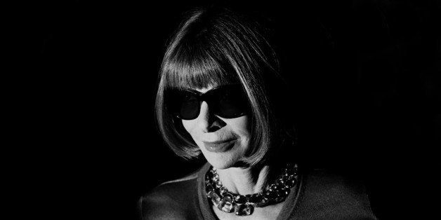 MILAN, ITALY - SEPTEMBER 18:  (EDITOR'S NOTE: Image was processed using digital filters) Anna Wintour attends the Gucci show
