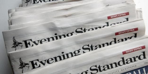 Copies of the London Evening Standard newspaper are pictured in central London, on January 21, 2009. Russian tycoon and forme