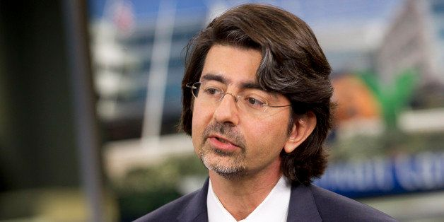 Pierre Omidyar, chairman and founder of eBay Inc., speaks during a television interview in New York, U.S., on Tuesday, Sept.