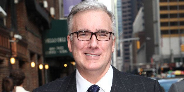 NEW YORK, NY - SEPTEMBER 11: Keith Olbermann departs 'Late Show with David Letterman' at Ed Sullivan Theater on September 11,