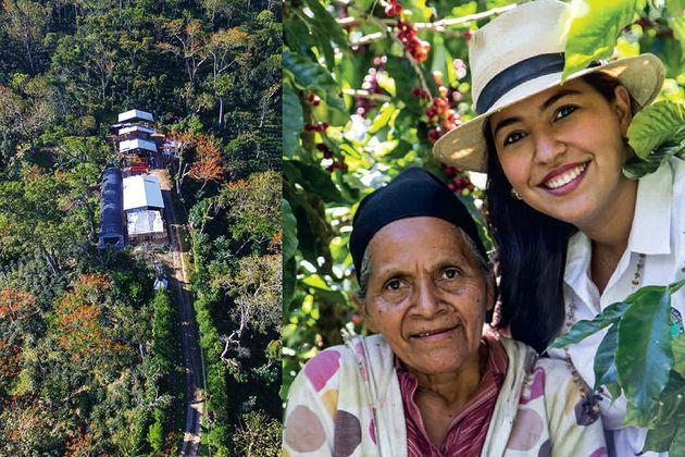 니카라과 라스 마리아스 농장의 커피는 니카라과 최초로 열대우림동맹 인증을