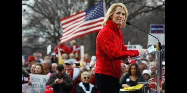 WASHINGTON - DECEMBER 15:  Conservative radio host and commentator Laura Ingraham addresses a health care reform protest on D