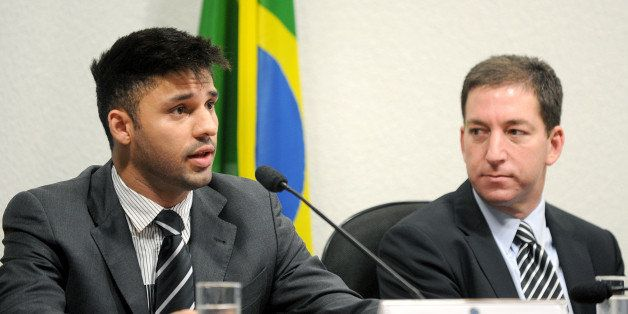 David Miranda (L), partner of the Guardian's Brazil-based reporter Glenn Greenwald (R), who was among the first to reveal Was