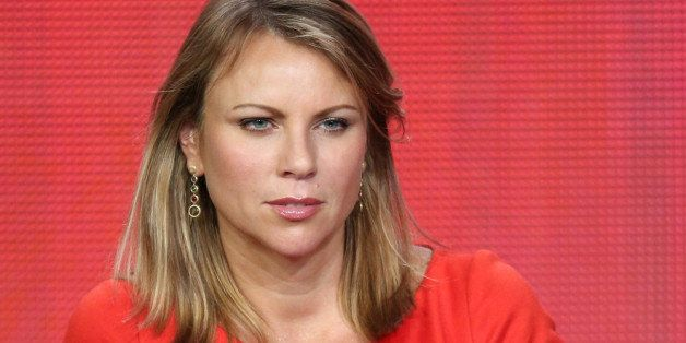 PASADENA, CA - JANUARY 12:  News correspondent Lara Logan of '60 Minutes Sports'  speaks onstage during the Showtime portion