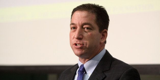 Glenn Greenwald speaking at the Young Americans for Liberty's Civil Liberties tour at the University of Arizona in Tucson, Ar
