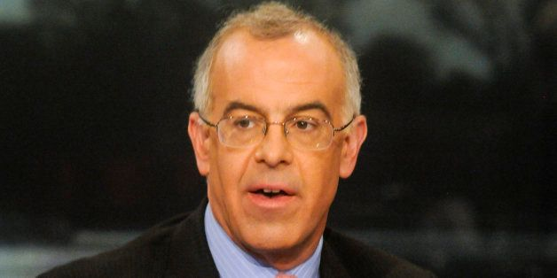MEET THE PRESS -- Pictured: (l-r)    David Brooks, Columnist, The New York Times,, appears on 'Meet the Press' in Washington,