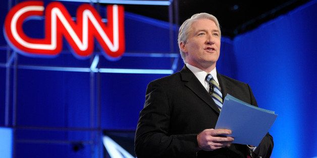 MESA, AZ - FEBRUARY 22:  CNN correspondent John King talks to the audience before moderating a debate sponsored by CNN and th