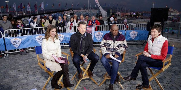 TODAY -- Pictured: (l-r) Natalie Morales, Willie Geist, Al Roker, Stephanie Gosk from the 2014 Olympics in Socci -- (Photo by