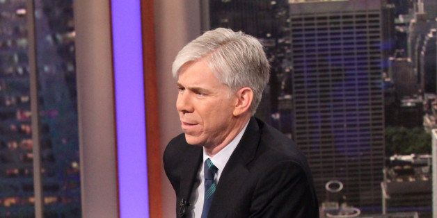 MEET THE PRESS -- Pictured: (l-r) Harry Smith, David Gregory -- (Photo by: Rob Kim/NBC/NBCU Photo Bank via Getty Images)
