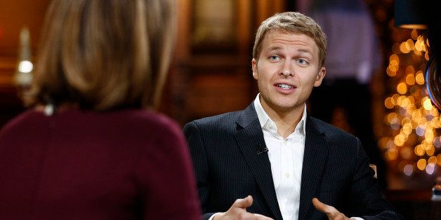 TODAY -- Pictured: MSNBC's Ronan Farrow appears on NBC News' 'Today' show on December 20, 2013 -- (Photo by: Peter Kramer/NBC
