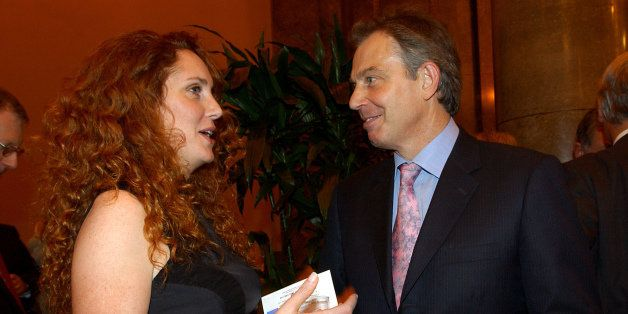 File photo dated 26/10/04 of former prime minister Tony Blair with former News International Chief Executive Rebekah Brooks a