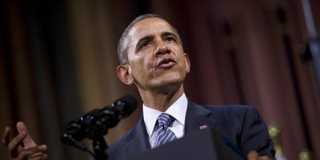US President Barack Obama delivers a speech at the Palais des Beaux-Arts (Palace of Fine Arts - BOZAR) in Brussels on March 2