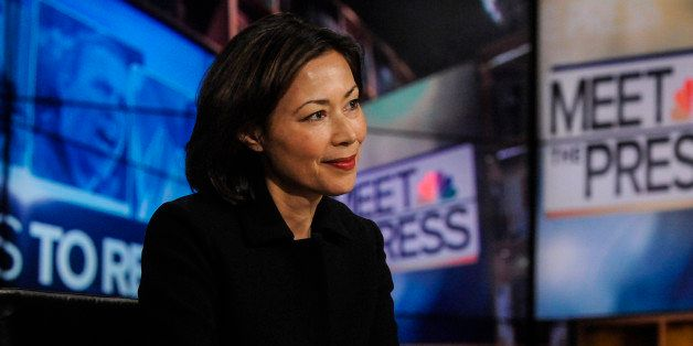 MEET THE PRESS -- Pictured: (l-r)   Ann Curry, National and International Correspondent/Anchor, NBC News, appears on 'Meet th