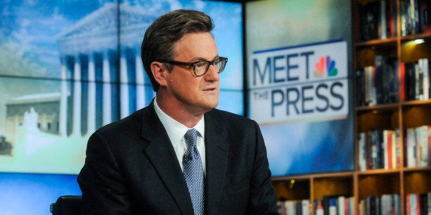 MEET THE PRESS -- Pictured: (l-r)   Joe Scarborough, Host, MSNBC's Morning Joe, appears on 'Meet the Press' in Washington, D.