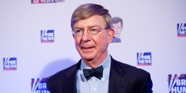WASHINGTON - JANUARY 08: Conservative newspaper columnist George Will poses on the red carpet upon arrival at a salute to FOX