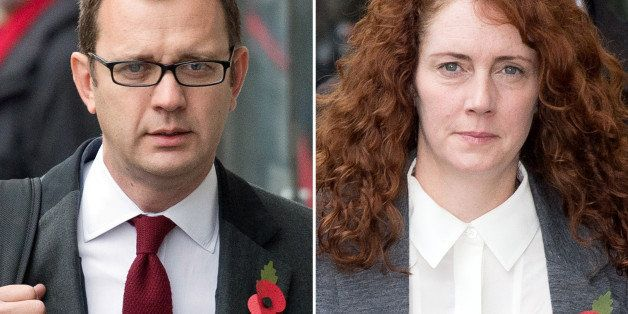 A combination of pictures created on October 31, 2013 shows Former News of the World editor and Downing Street communications
