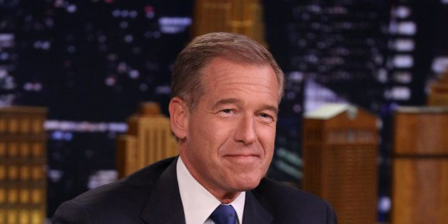 THE TONIGHT SHOW STARRING JIMMY FALLON -- Episode 0041 -- Pictured: News anchor Brian Williams on April 21, 2014 -- (Photo by