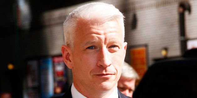 NEW YORK, NY - AUGUST 27: Anderson Cooper arrives for the 'Late Show with David Letterman' at Ed Sullivan Theater on August 2
