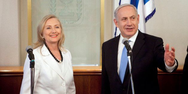 JERUSALEM, ISRAEL - JULY 16:  Israeli Prime Minister Benjamin Netanyahu meets with U.S. Secretary of State Hillary Clinton on